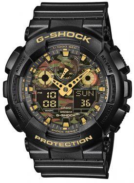 Casio G-Shock Uhr GA-100CF-1A9ER Face-Camouflage Watch