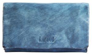 Raptor Damen Geldbörse blau Leder Querformat RA40017-004