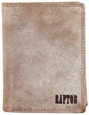 Raptor Leder Herren Geldbörse Taupe Vintage Hochformat RA40004-001