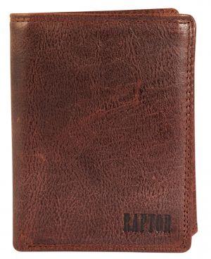Raptor Leder Herren Geldbörse Braun Vintage Hochformat RA40004-002