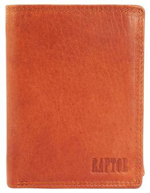 Raptor Leder Herren Geldbörse hellbraun Vintage Hochformat RA40004-003