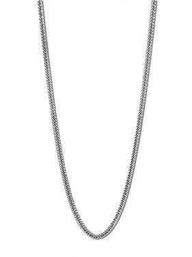 Herren Halskette Lotus Style LS1682-1/1 Flachpanzerkette Edelstahl silber