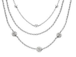 Damen Halskette 3-reihig Kugeln Lotus Style LS1776-1/1 Kette Collier
