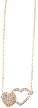 Halskette Herz Anhänger goldfarbig 45 cm Damen-Halskette Love