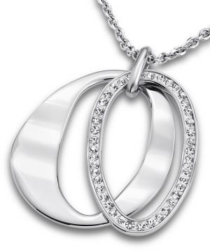 Lotus Style Halskette Ringe LS1672-1/1 Strass Kette Edelstahl