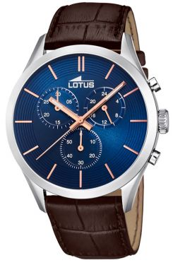 Lotus Uhr Herren Armbanduhr Chronograph 18119/4 Lederband