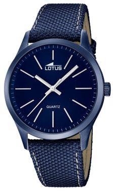 Herrenuhr Lotus Armbanduhr 18166/3 blau Leder-Textilband