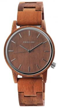 Excellanc Herren Holz Armbanduhr braun Uhr 2800052-002