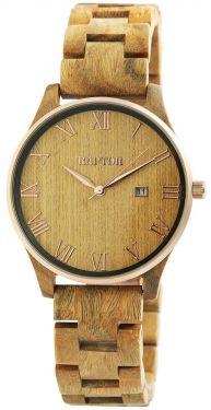 Raptor Herren Uhr Holz Armbanduhr braun RA20257-003