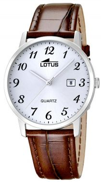 Lotus Herrenuhr Armbanduhr Lederband braun 18239/2 Datum