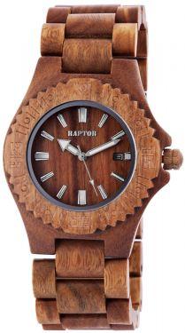 Damen Herren Holz Armbanduhr hellbraun Raptor Uhr Holzuhr Datum