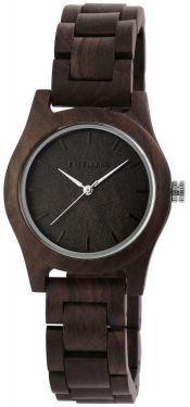 Excellanc Damen Uhr Holz Gliederarmband 1800156-002 Holzuhr dunkelbraun