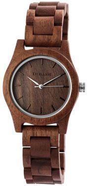 Excellanc Damen Uhr Holz Gliederarmband 1800156-003 Holzuhr braun