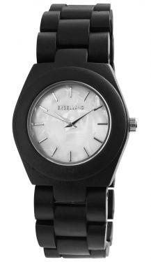 Excellanc Damen Uhr Holz Gliederarmband 1800192-001 Holzuhr Ebenholz