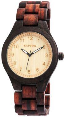 Raptor Herrenuhr Holz Armbanduhr braun Holzuhr RA20017-001 Sandelholz