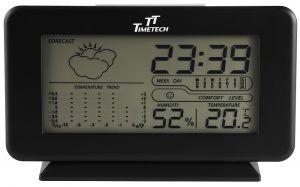 Digital Wecker Alarm Temperatur-Feuchtigkeitsmessung schwarz