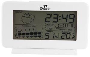 Digital Wecker Alarm Temperatur-Feuchtigkeitsmessung weiß