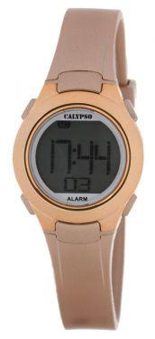 Calypso Kinderuhr Damen Teenie Armbanduhr Digital K5677/3 rosegoldfarbig Girls