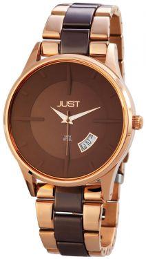 Just Unisex Armbanduhr Edelstahl-Keramik Uhr 48-S06101RGD-BR