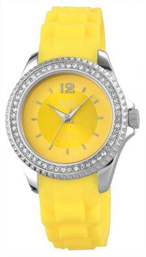Just Damenuhr Silikonuhr gelb Strass 48-S3859-YL Armbanduhr Uhr