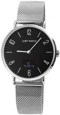 Just Watch Hybrid-Smartwatch Herrenuhr Bluetooth JW20067-002 Meshband