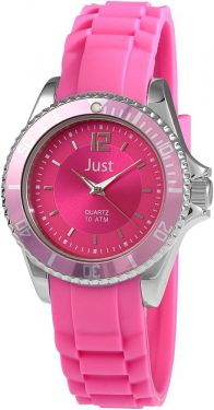 Just Damen Uhr 48-S3857-RO rosa Armbanduhr Katschukarmband