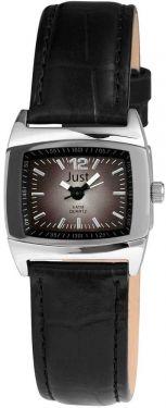 Just Damenuhr Uhr schwarz Leder 48-S10102L-BK Armbanduhr