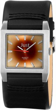 Just Uhr Herrenuhr 48-S2524G-BR-SL Unterlege-Armband Leder schwarz braun