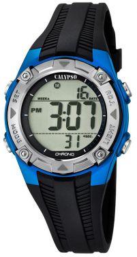 Calypso Kids Kinder Armbanduhr Digitaluhr K5685/5 schwarz blau silber