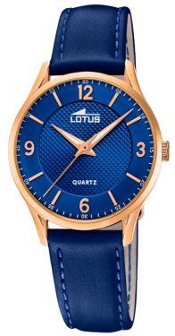 Damenuhr Lotus Armbanduhr 18407/B Lederarmband blau
