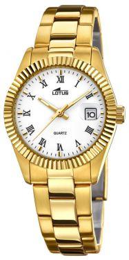 Lotus Damenuhr 15824/1 Damen-Armbanduhr Edelstahl Gold PVD