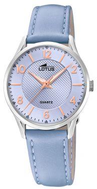 Damenuhr Lotus Armbanduhr 18406/C Lederarmband blau