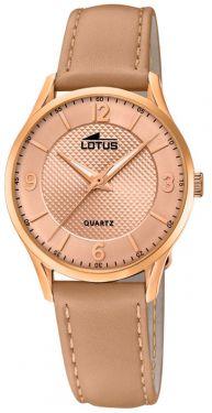 Damenuhr Lotus Armbanduhr 18407/A Lederarmband braun