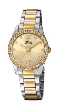 Lotus Damenuhr Armbanduhr bicolor Grace Edelstahlband 18384/1