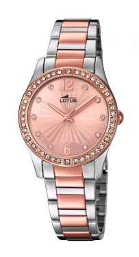 Lotus Damenuhr Armbanduhr bicolor Grace Edelstahlband 18384/2