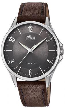 Lotus Uhr Armbanduhr Herrenuhr 18518/2 Lederarmband braun