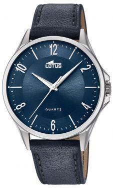 Lotus Uhr Armbanduhr Herrenuhr 18518/3 Lederarmband blau