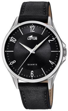 Lotus Uhr Armbanduhr Herrenuhr 18518/4 Lederarmband schwarz
