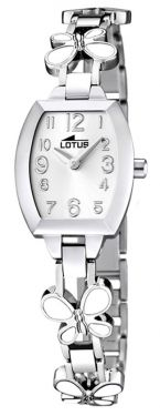 Lotus Teeny Armbanduhr 15827/1 Schmetterling Edelstahlband