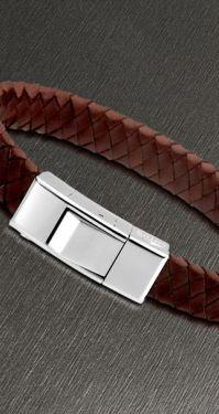 Lotus Style Herren Armband braun silber geflochten LS1122-2/3 21 cm