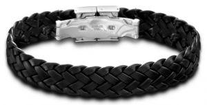 Lotus Style Herren Armband LS1206/2/1 Lederarmband schwarz