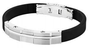 Lotus Style Herren Armband LS1316-2/1 Kautschuk Edelstahl schwarz silber