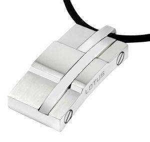 Lotus Style Herren Halskette Leder LS1316-1/1 Edelstahl Anhänger zoom