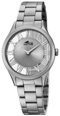 Lotus Damen Armbanduhr 18398/1 Edelstahlband grau