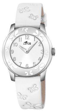 Lotus by Festina Damen Mädchen Uhr 18272/1 Leder weiß Schmetterlinge