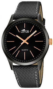 Herrenuhr Lotus Armbanduhr 18165/2 schwarz Leder-Textilband