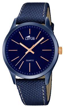 Herrenuhr Lotus Armbanduhr 18166/2 blau Leder-Textilband
