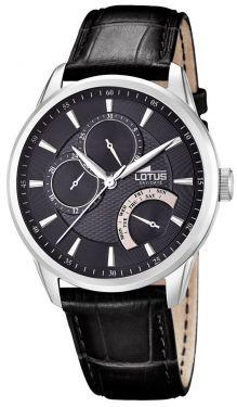 Lotus Herrenuhr 15974/4 Armbanduhr schwarz Lederarmband Chronograph