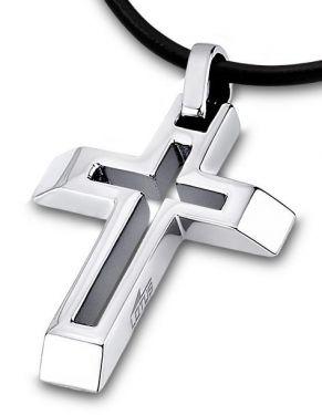 Halskette Kreuz Anhänger Lotus Style LS1683-1/1