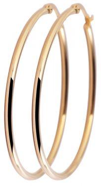 Akzent Creolen 45 mm Edelstahl Ohrringe goldfarbig Damen Ohrschmuck